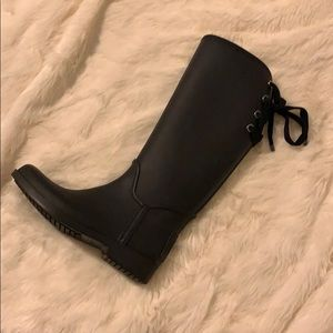 Coach Tie Back Rain Boots **Gently Loved**